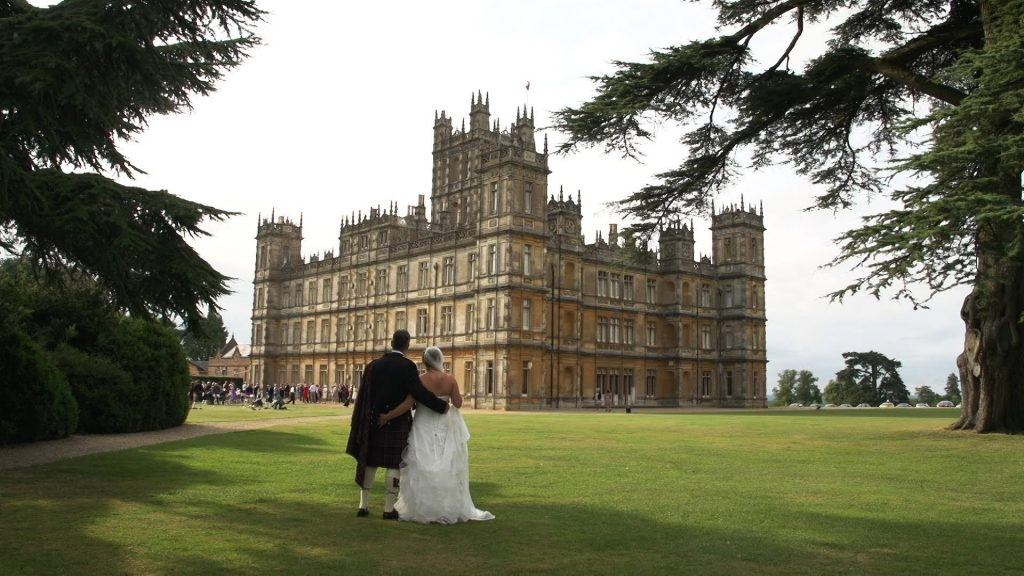 A wedding at Highclere Castle