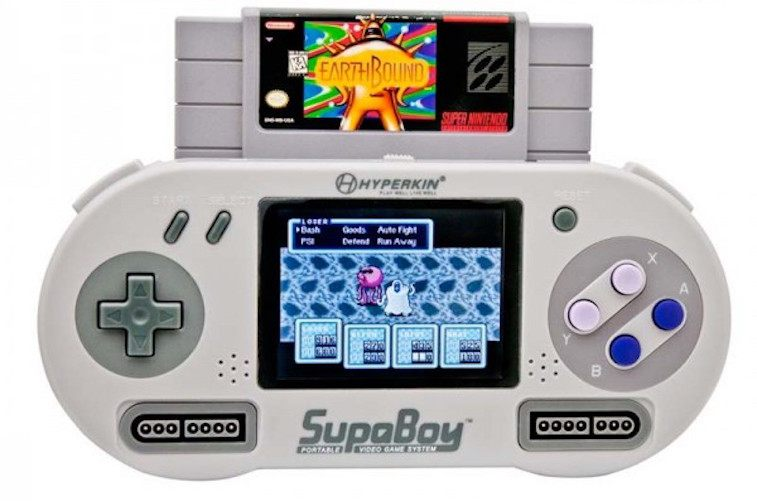 A portable SNES that plays SNES cartridges