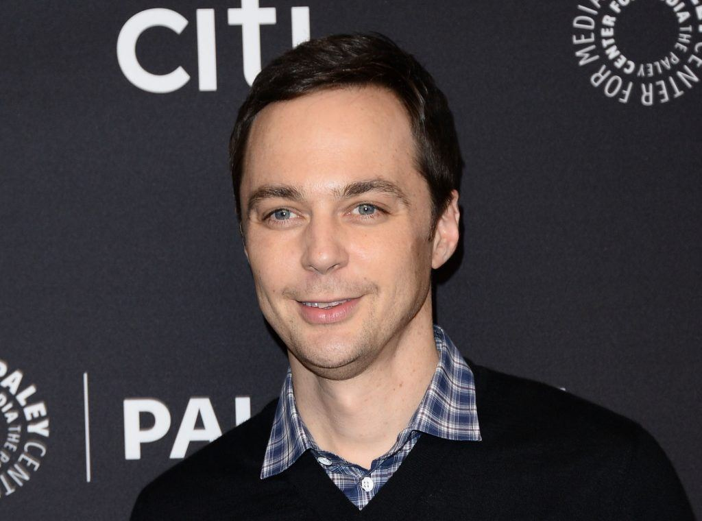 Jim Parsons poses on a red carpet