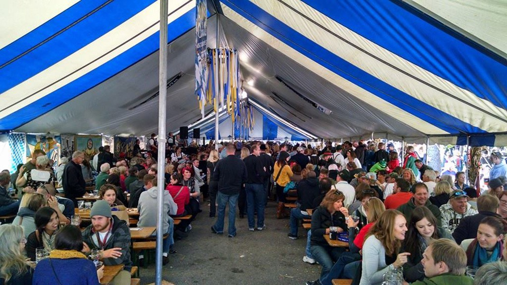 one of the tents at New Ulm Octoberfest