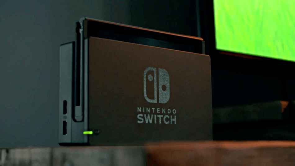 Nintendo Switch in base station