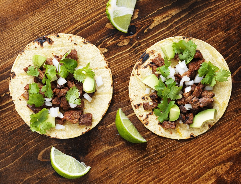 two authentic street tacos