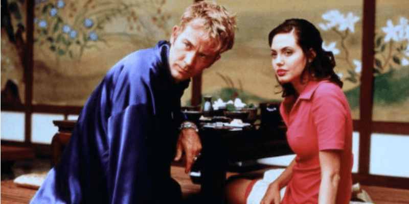 Timothy Hutton and Angelina Jolie in Playing God