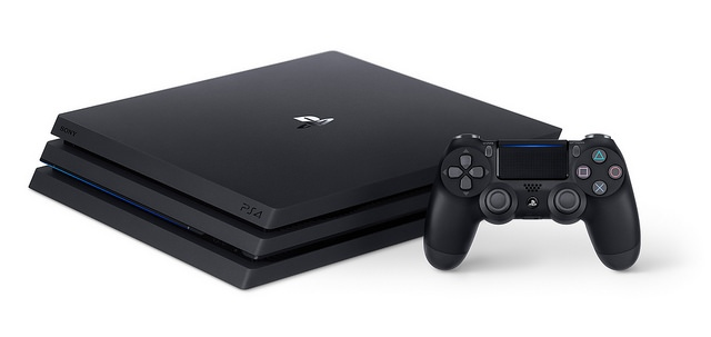 PlayStation 4 Pro with controller
