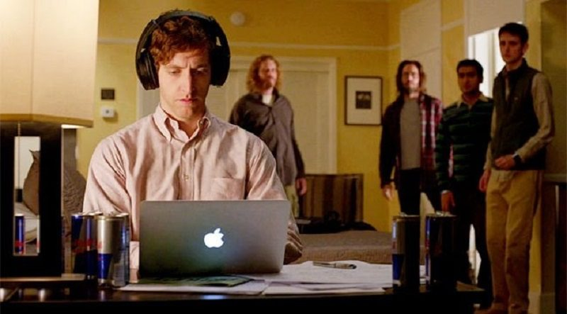 """Richard from """"Silicon Valley"""" finds a productivity streak on his laptop"""