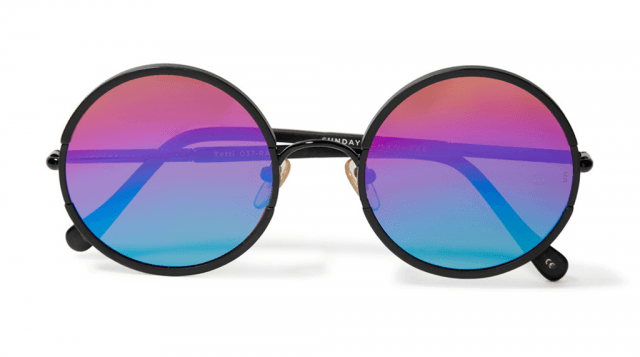 round, rainbow sunglasses