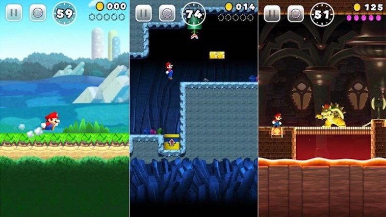 'Super Mario Run' in action.