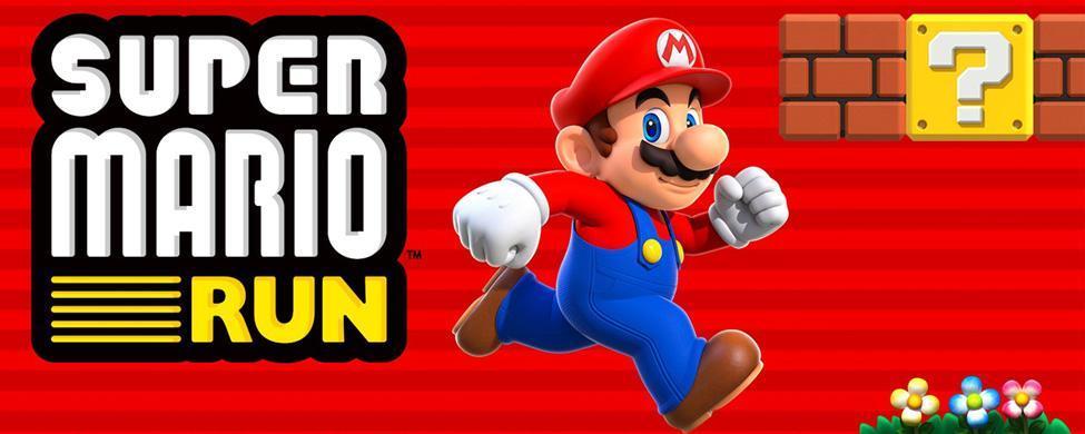 Super Mario Run splash screen in iTunes.
