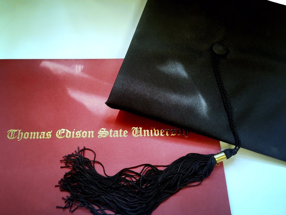 A diploma from Thomas Edison State University