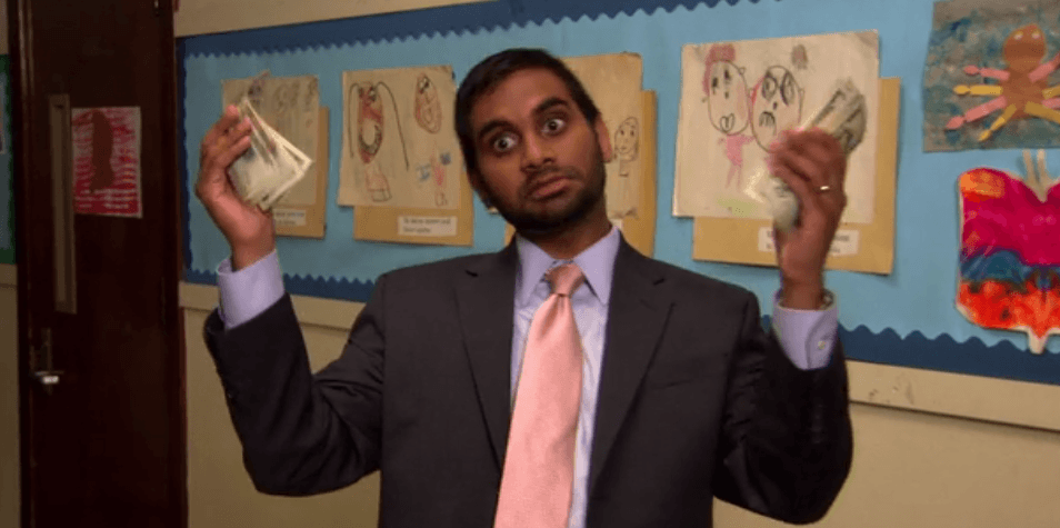 Tom Haverford from 'Parks and Recreation' dreamt of being a billionaire, but didn't have an invention to get him there