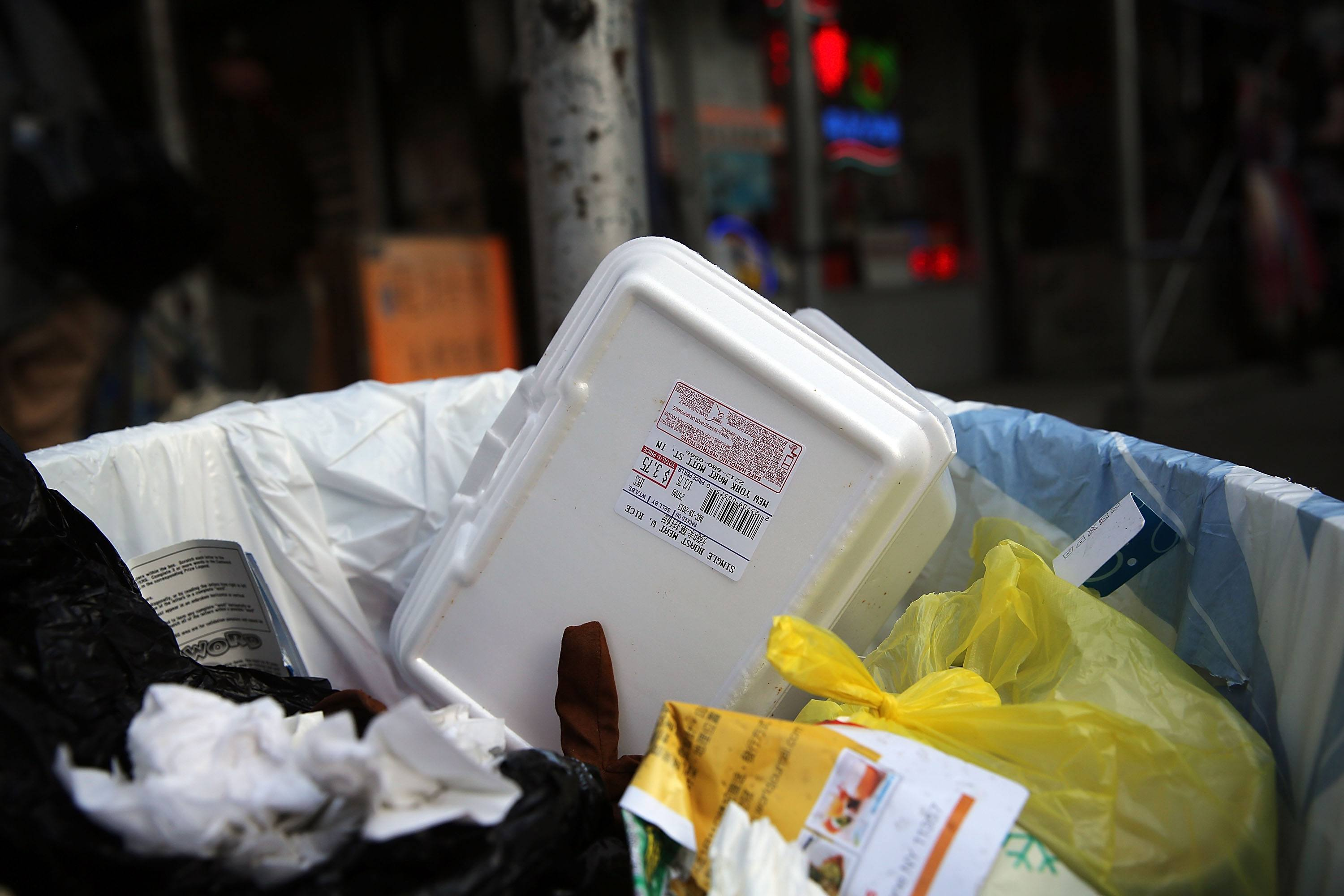 take out container in trash