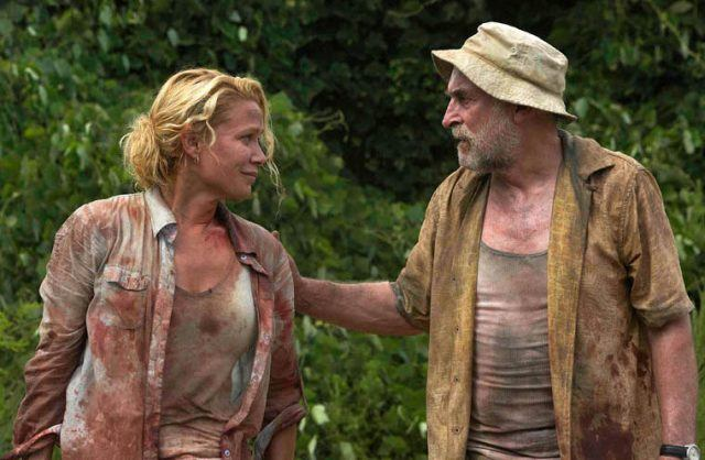 Andrea (Laurie Holden) and Dale (Jeffrey DeMunn) in a scene from the first season of AMC's 'The Walking Dead'