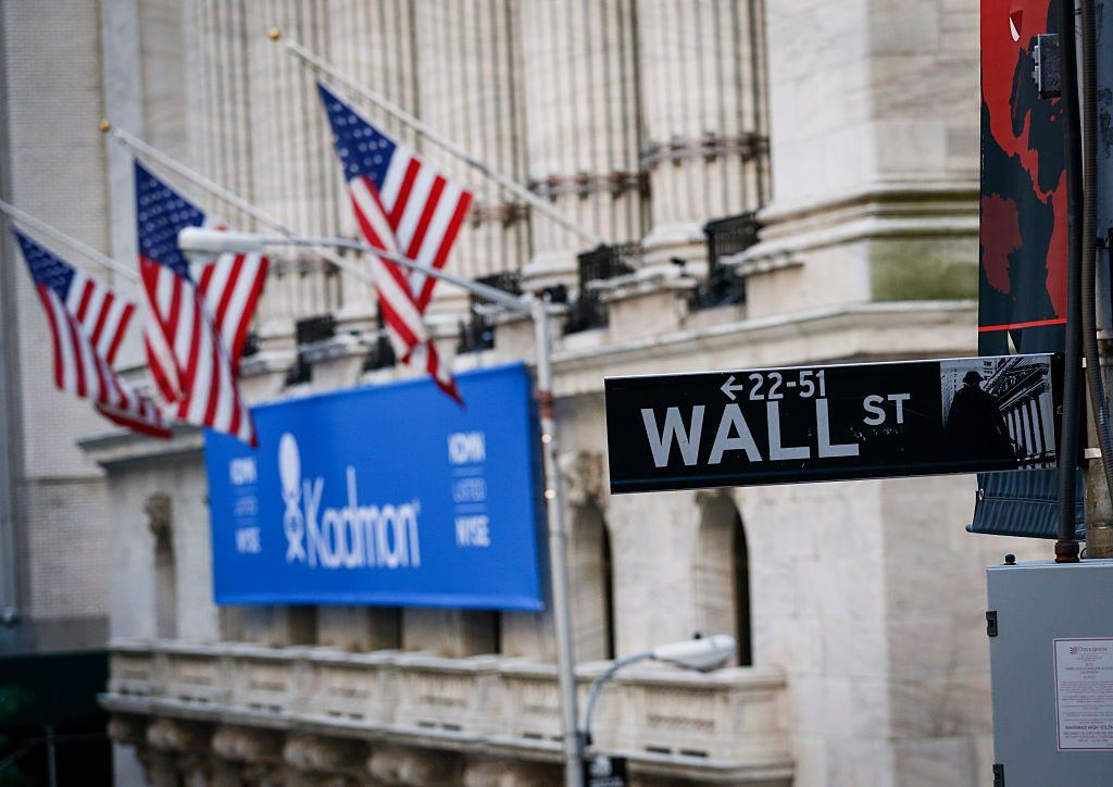 the sign for Wall Street