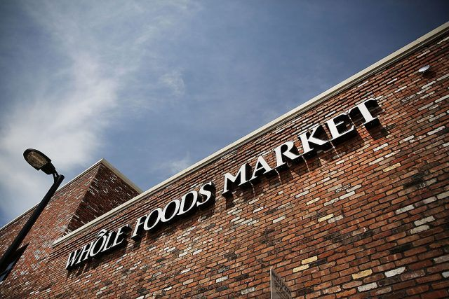 A sign for a Whole Foods Market