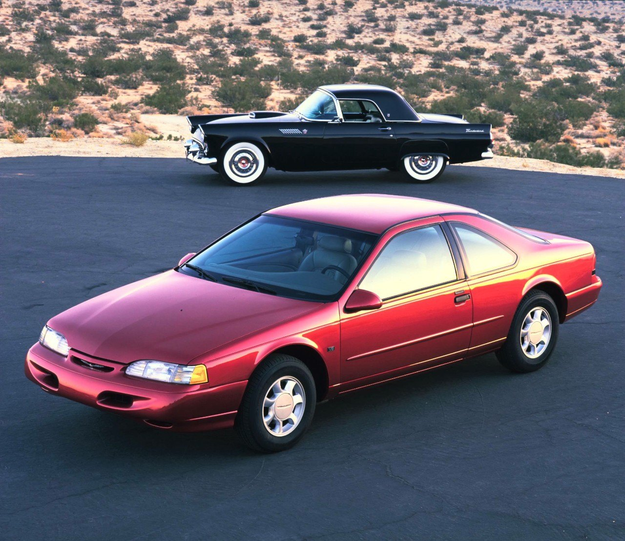 1955 and 1995 Ford Thunderbird