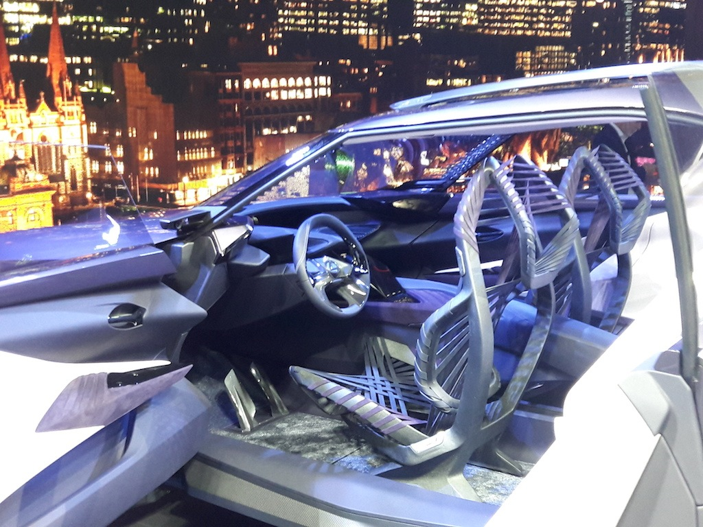 The Lexus UX Concept and its unusual seats at the Paris Motor Show