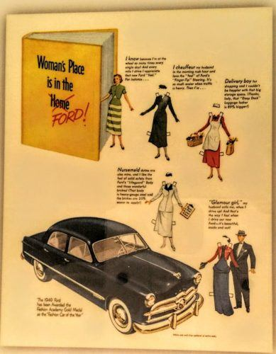 Ford advertisement for women from the 1950s