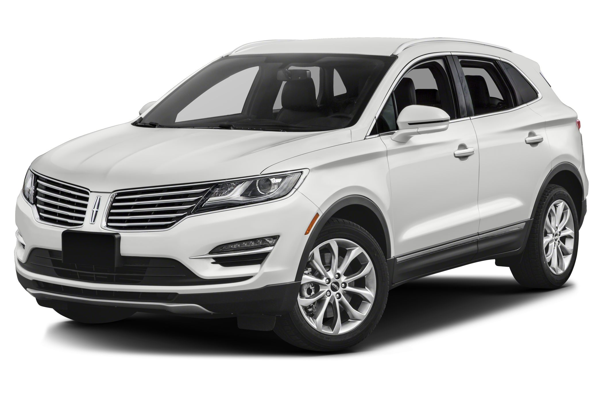White 2017 Lincoln MKC on display.