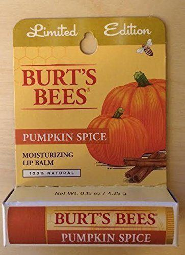 Burt's Bees Pumpkin Spice Lip Balm, fall skincare products