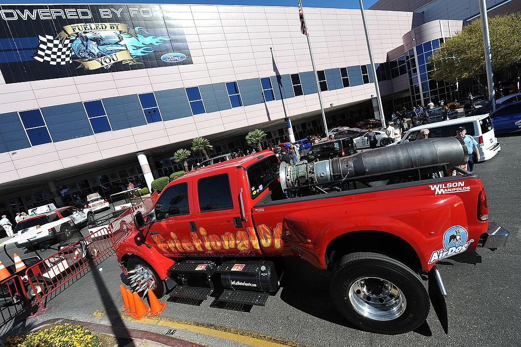 A Ford F650 Truck with a General Electric J85 Jet Engine