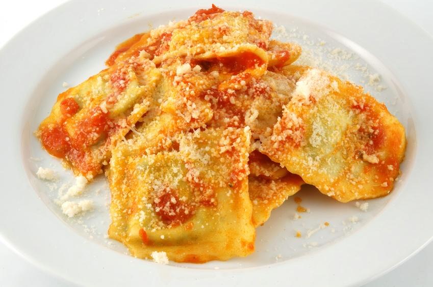ravioli with parmesan cheese