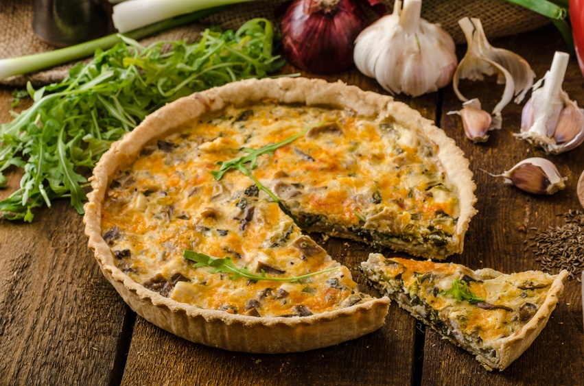 Cheese Quiche with chicken