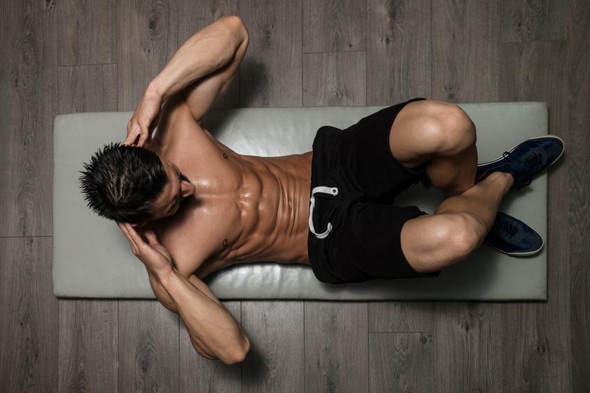 Man Exercising Abdominals