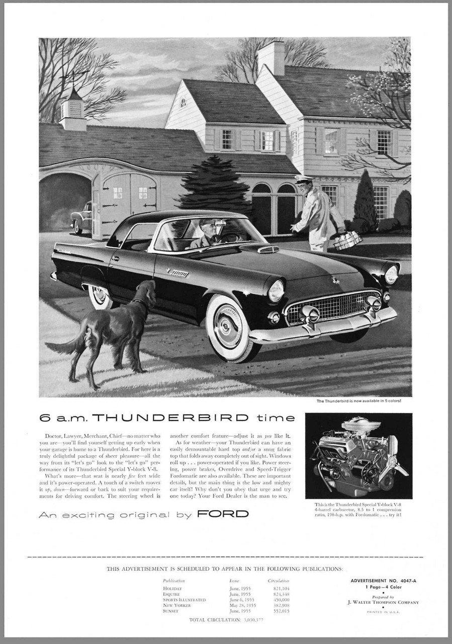 1955 Ford Thunderbird advertisement