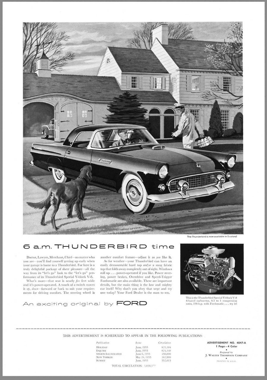 1955 Ford Thunderbird advertisement