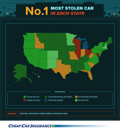America's most commonly stolen cars | cheapcarinsurance.net