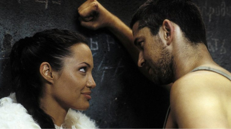 Angelina Jolie and Gerard Butler in Lara Croft Tomb Raider: The Cradle of Life
