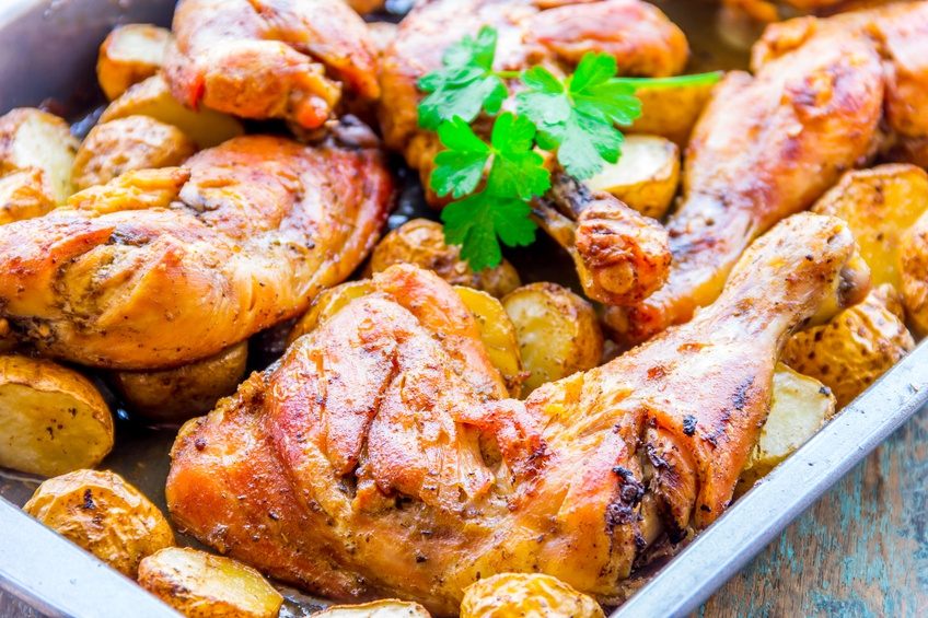 Moroccan-Style Roast Chicken and Potatoes