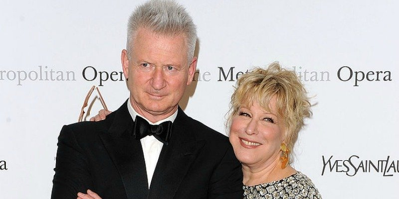 Martin Von Haselberg and Bette Midler in formal wear smiling close together