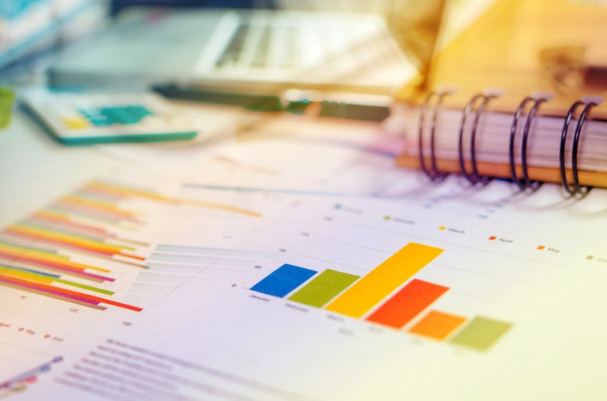 Graphs and charts, business table