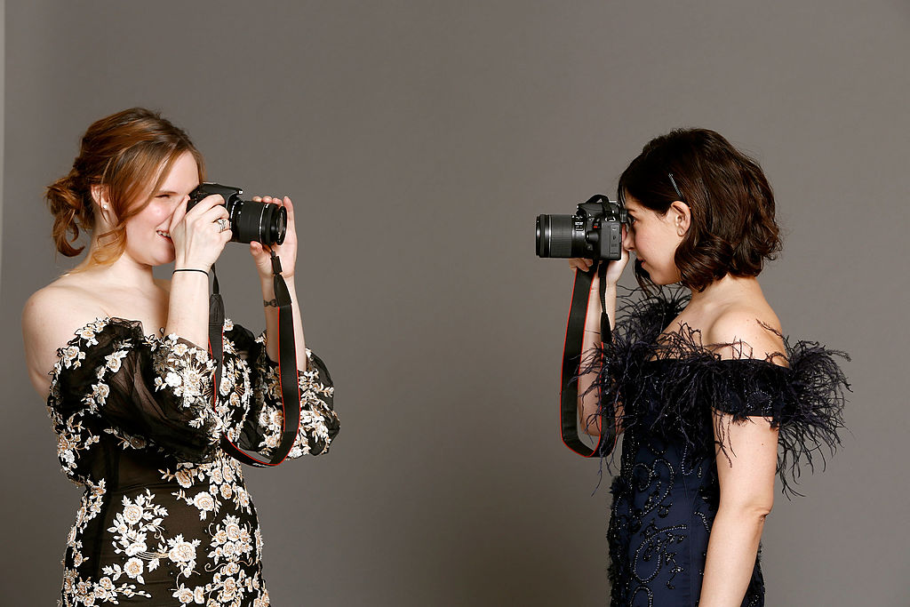 Guests at Georgina Chapman's Marchesa studio for Canon's THE BIG MOMENT