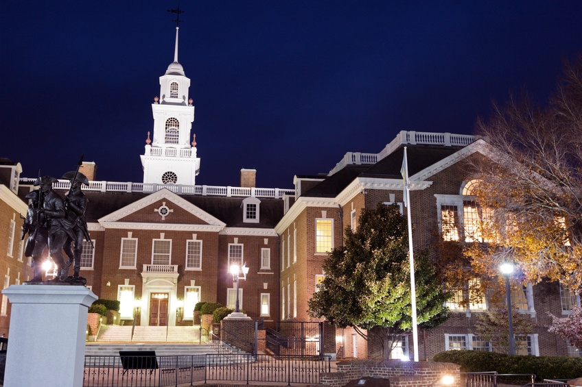 Capitol building in Dover in Delaware