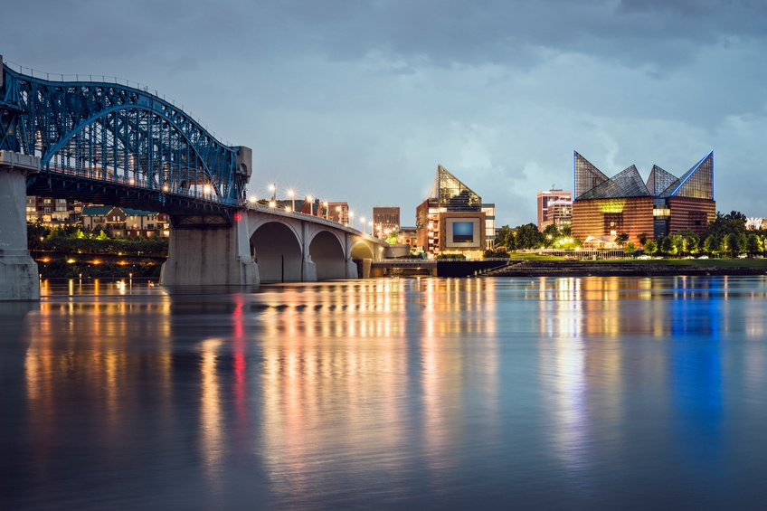 Chattanooga, Tennessee, USA downtown skyline
