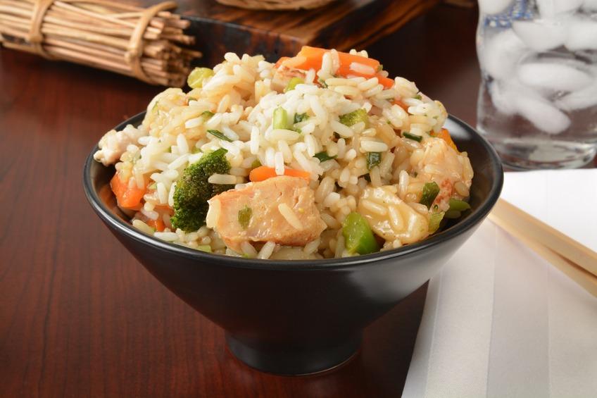 A bowl of chicken teriyaki