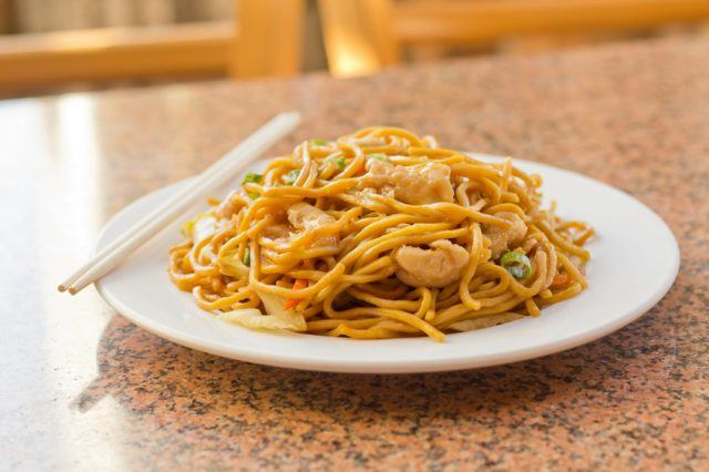 chicken Lo Mein stir fry
