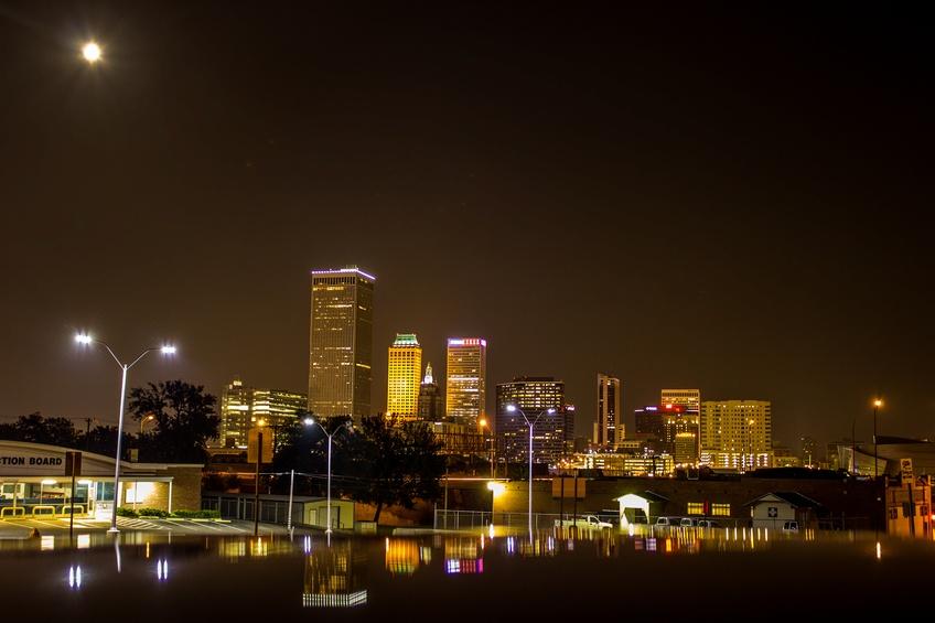 Downtown Tulsa at Dusk