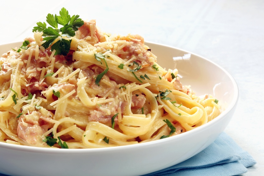 Chicken bacon alfredo pasta