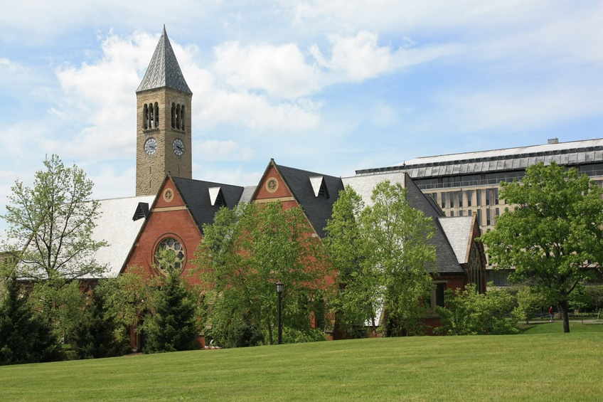 Cornell is situated on a large, leafy campus