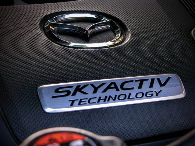 Turbocharged SkyActiv technology means you can run it on regular or premium for more power