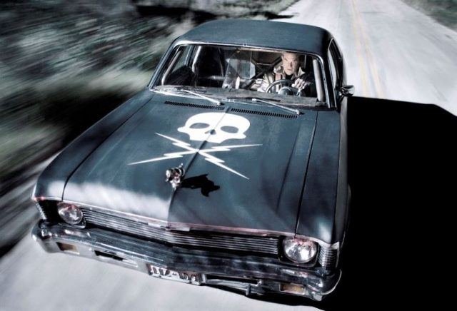 Kurt Russel in Death Proof Chevy Nova