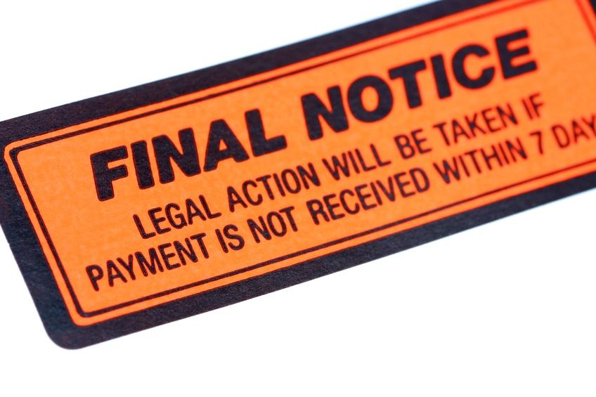 final notice sticker
