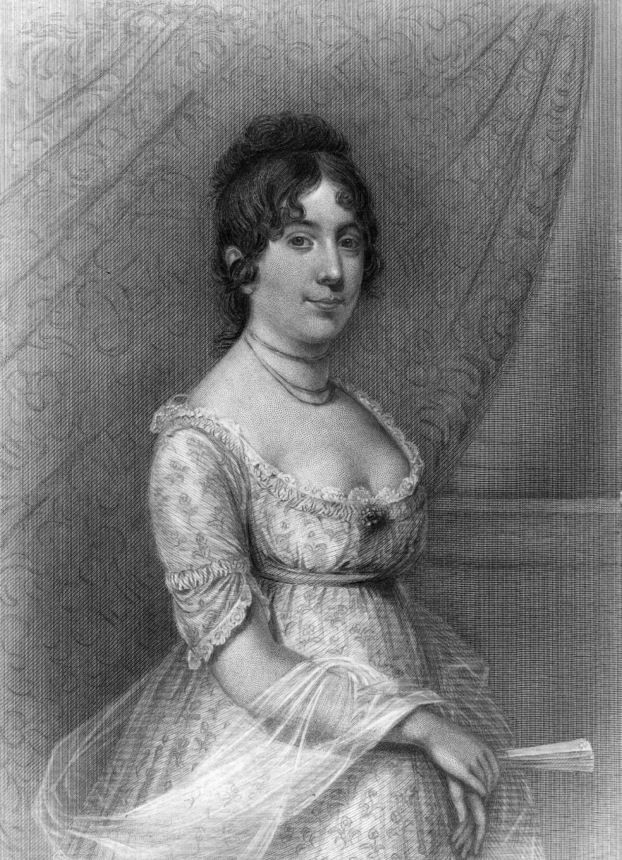 Dorothy 'Dolley' Madison, the wife of James Madison