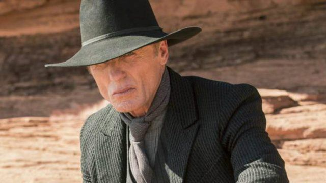 The Man in Black (Ed Harris) in a scene from HBO's 'Westworld'