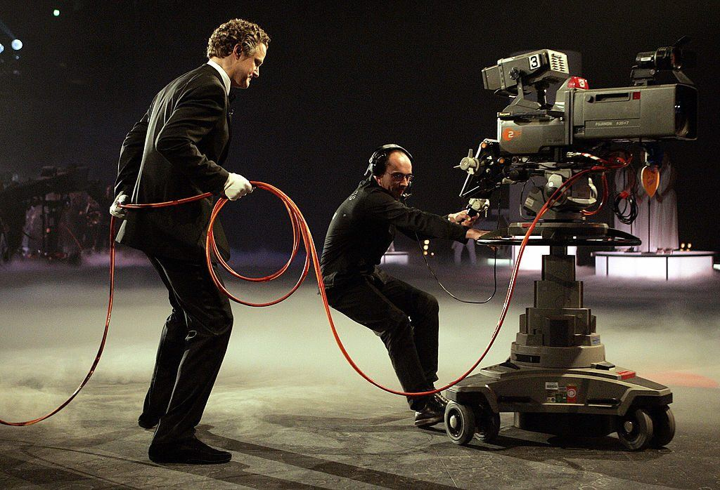 extension cord on TV set