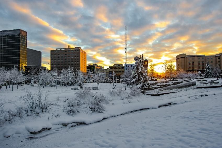 winter in Fairbanks Alaska