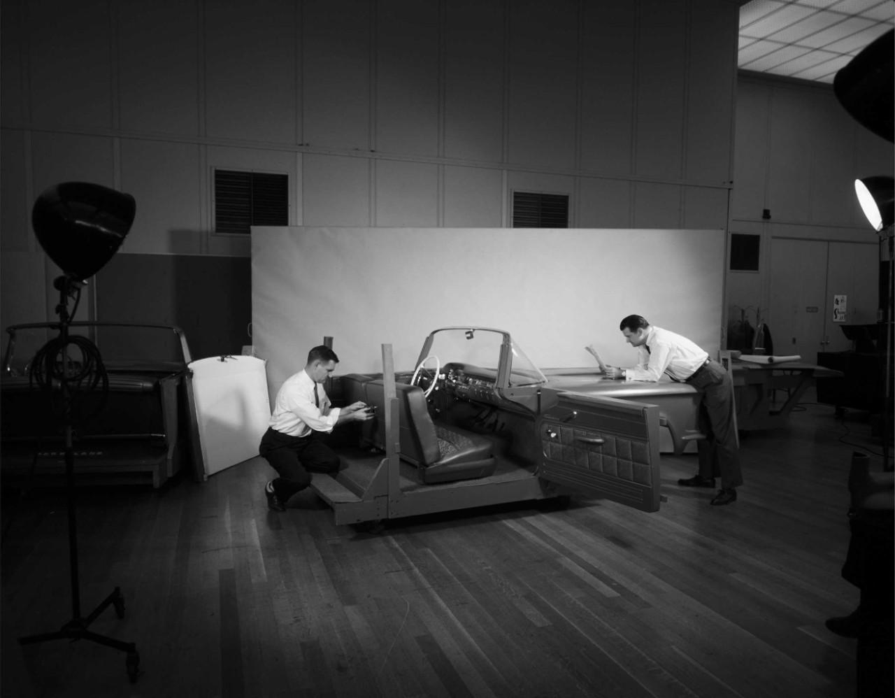 Ford design studio, mid 1950s